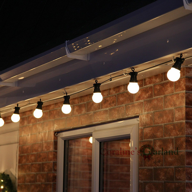 15M 20 LED Globe Bulb String Lights IP65 Waterproof Connectable for Outdoor Valentine Christmas Holiday Garland Cafe Decoration image