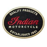 Мотоцикл вышитые нашивки индийский логотип Rider сзади для жилет Мультикам куртка Байкер Lable гладить на нашивки наклейки одежда