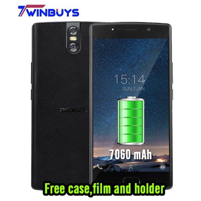 Оригинал DOOGEE BL7000 мобильный телефон Android 7.0 7060 мАч 4 ГБ + 4 ГБ 5.5 ''FHD MTK6750T Восьмиядерный смартфон Dual сзади Камера 13.0MP