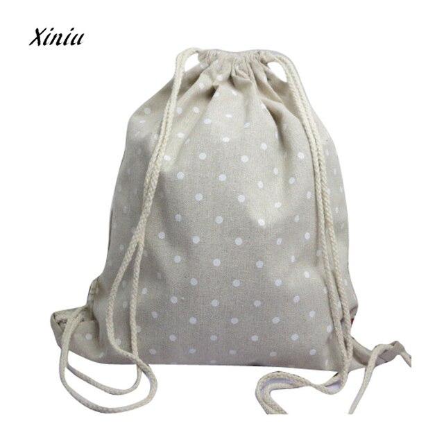 Nuevas mochilas Unisex bolsas de impresión Retro mochila con cordón para adolescentes mochilas escolares de calidad lindas mochilas de libros escolares