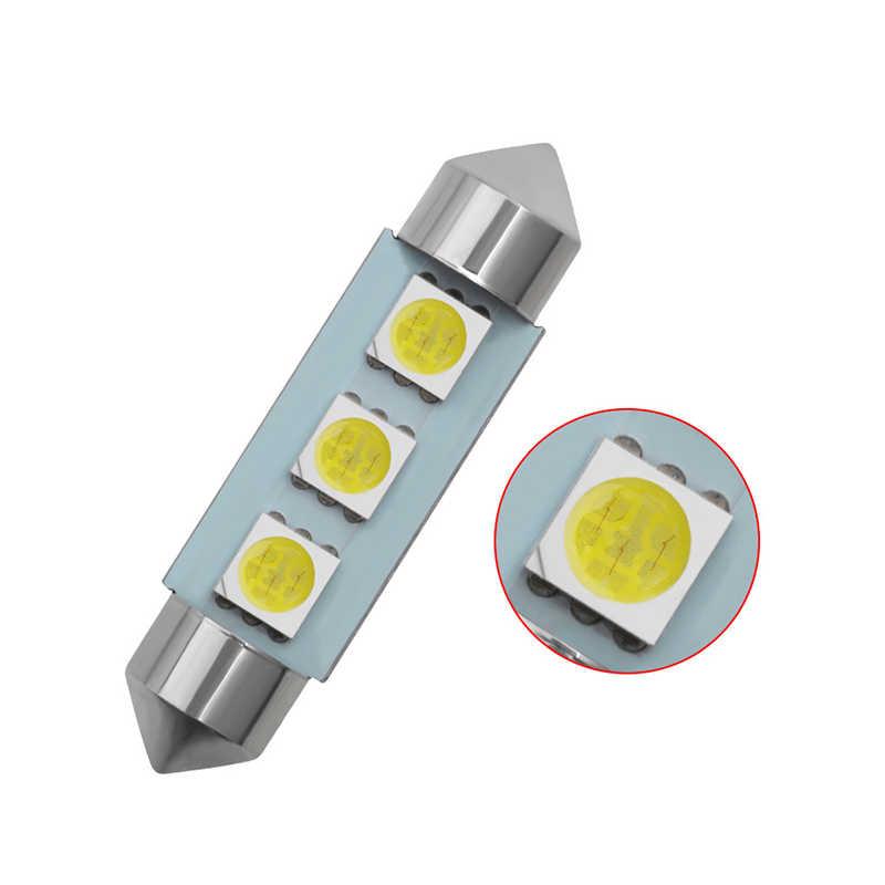 カースタイリング Led C5W 5050 3 Smd 3Smd 31 ミリメートル 36 ミリメートル 39 ミリメートル 41 ミリメートル Dc 12 ボルトフェストゥーンインテリアドーム送料ライトランプ電球