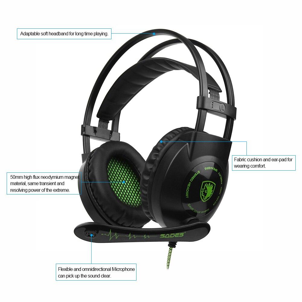 SADES SA 801 3.5mm Cuffie Da Gioco con Microfono Corso Ear Musica cuffie  Controllo Del Volume per PS4 Nuovo Xbox One Laptop Tablet PC in SADES  SA-801 3.5mm ... fe7476840101
