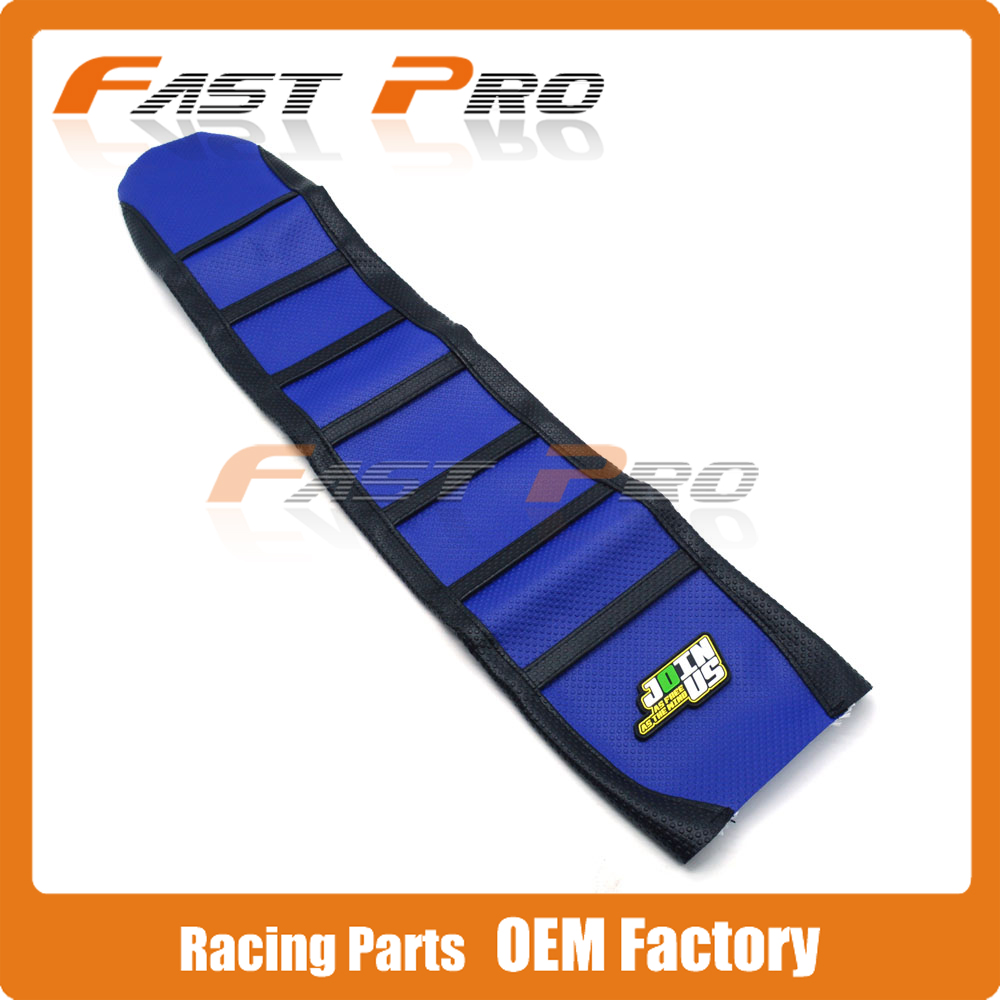Pro Rib Ribbed Blue Gripper Soft Rubber Seat Cover For YZF450 YZ450F 2010-2013 10 11 12 13 Motorcycle