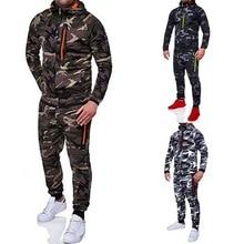 Laamei, мужская мода, камуфляжные куртки+ штаны, набор, мужской спортивный костюм, костюм для улицы, мужские спортивные костюмы, набор, повседневная спортивная одежда