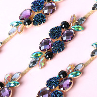 Factory Direct Sales Spline Rhinestones Chain Apply To Clothing Decoration And DIY Headpieces Jewelry Accessories 1yard