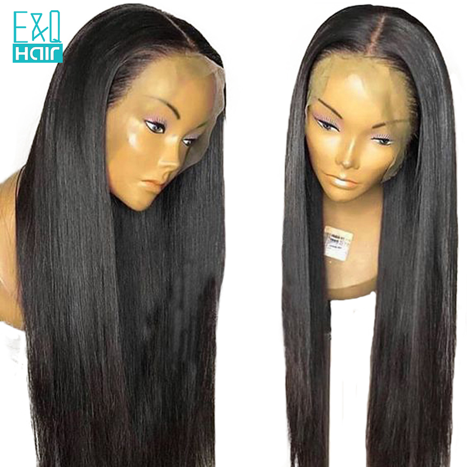Brazilian Lace Front Human Hair Wigs For Women Pre Plucked 180 Density Glueless Lace Front Wig