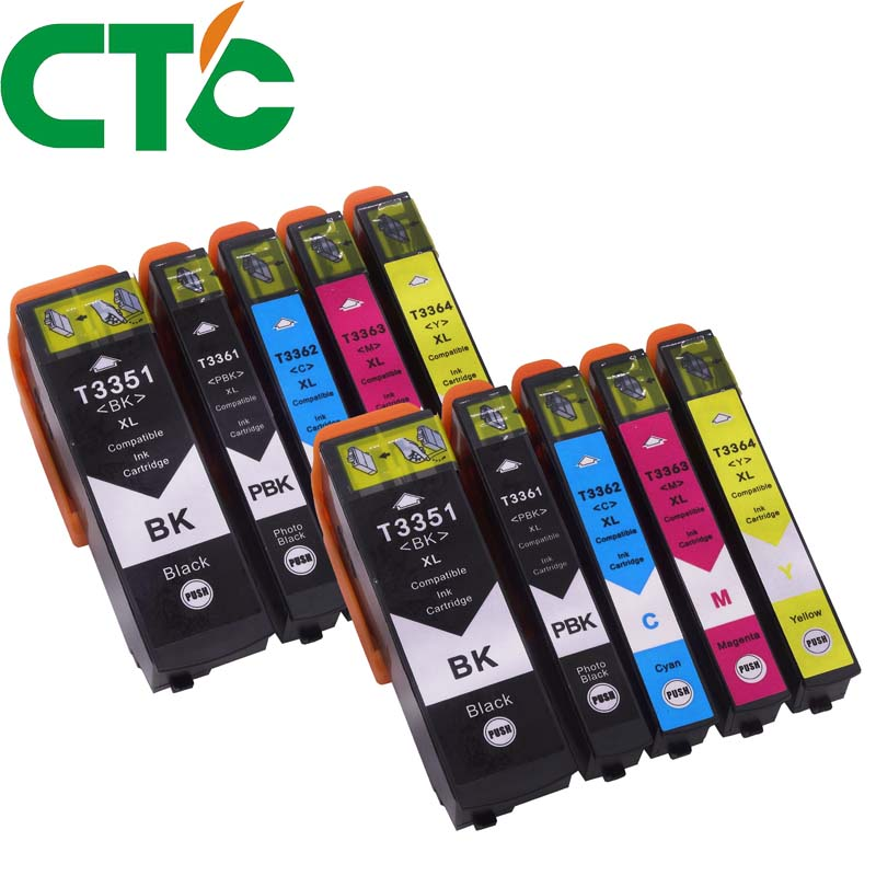 10Pack 33XL T3351 T3361 Compatible ink cartridge for Epson XP-530 XP-630 XP-830 XP-635 XP-540 XP-640 XP-645 for Europe printer
