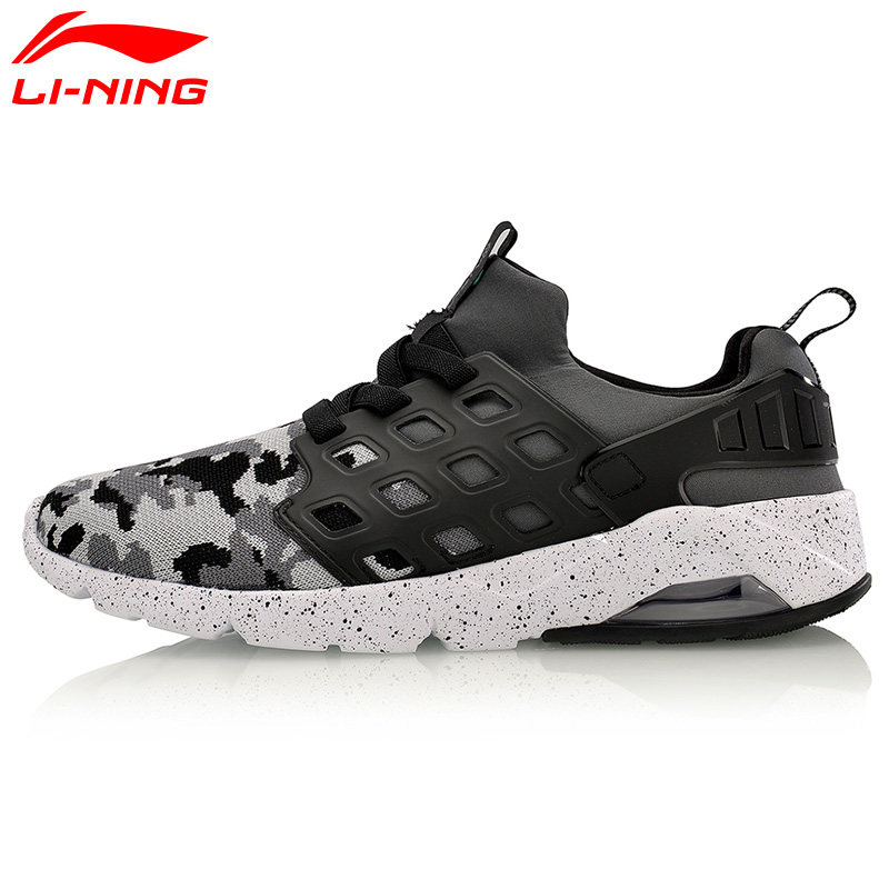 Li Ning Original Men Bubble Ace Walking Shoes MONO YARN Air Cushion Breathable LiNing Sneakers Sports Shoes AGLM019 li ning original men sonic v turner player edition basketball shoes li ning cloud cushion sneakers tpu sports shoes abam099