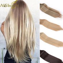 AISI BEAUTY 22 160 g 7 sztuk zestaw Silky Straight wysoka temperatura Fiber pełna głowa syntetyczny klip w przedłużeniach do włosów dla kobiet tanie tanio Jedwabiście proste AISI PIĘKNO Włókno wysokotemperaturowe 160g zestaw