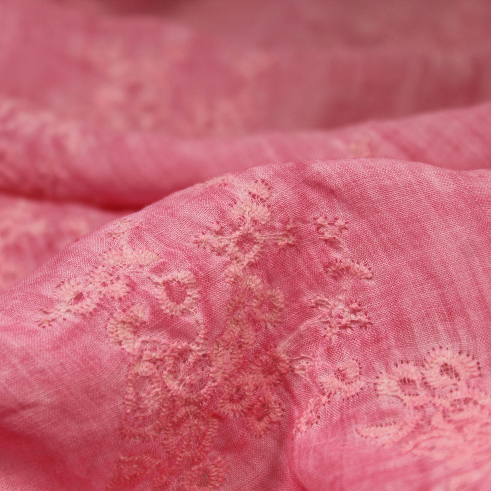 3 colori 100*140 cm Filo di Cotone Ricamato Puro ramiè Tessuto per cucire estate camicie patchwork morbido umidità traspirazione