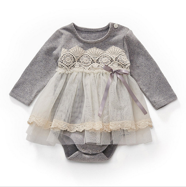 4P144 Lace Long sleeve Spring New born infant baby girls dresses wholesale baby  boutique clothing e7a3b70c7c