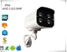 IP66 AHD Bullet Camera 1.0/2.0MP 720/1080 กันน้ำกลางแจ้งอินฟราเรด NightVision IRC XM330 + Sony IMX323 BNC DC 12 โวลต์กล้องวงจรปิดความปลอดภัย