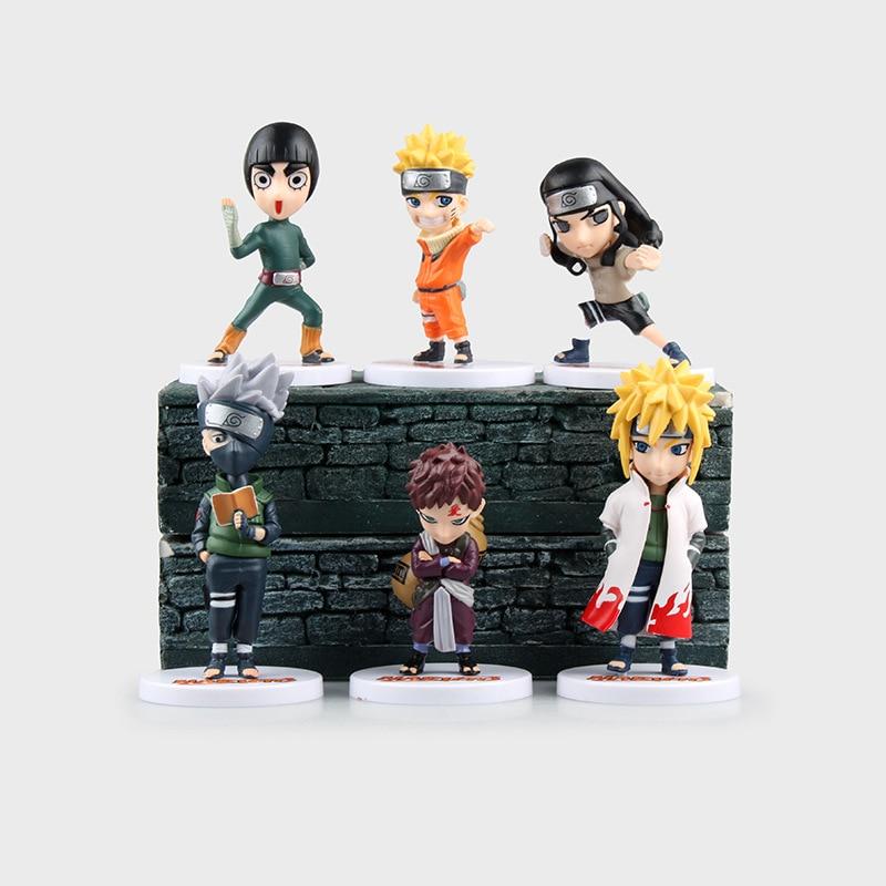 6Pcs Naruto Figures Uzumaki Hatake Kakashi Japan Anime Set Figurine Pvc Action Figure Collectible Model Toy Kids Toys 9-12CM 2017 fashion genuine leather men briefcase cowhide men s messenger bags 15 6 laptop business bag luxury lawyer handbags li 1832