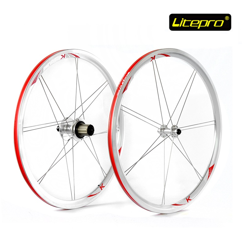 New Folding Bike Wheel set LITEPRO 20inch 451 Wheelset 74/100mm 130/135mm 14/16H 4Beraing Hub Froth Rear Quick Release Wheels new folding bike wheel set litepro 20inch 451 wheelset 74 100mm 130 135mm 14 16h 4beraing hub froth rear quick release wheels