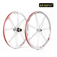 New Folding Bike Wheel set LITEPRO 20inch 451 Wheelset 74/100mm 130/135mm 14/16H 4Beraing Hub Froth Rear Quick Release Wheels
