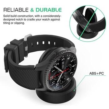 Cargadores Inalámbricos Reloj Inteligente De Carga Clásico Frontier Cargador De Alta Calidad Reloj Inteligente Base De Carga Para Samsung Gear S3
