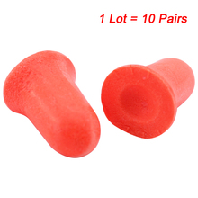 ФОТО 10pairs noise reduction earplugs comfort foam soundproof work learning sleep labor protection earplugs t182