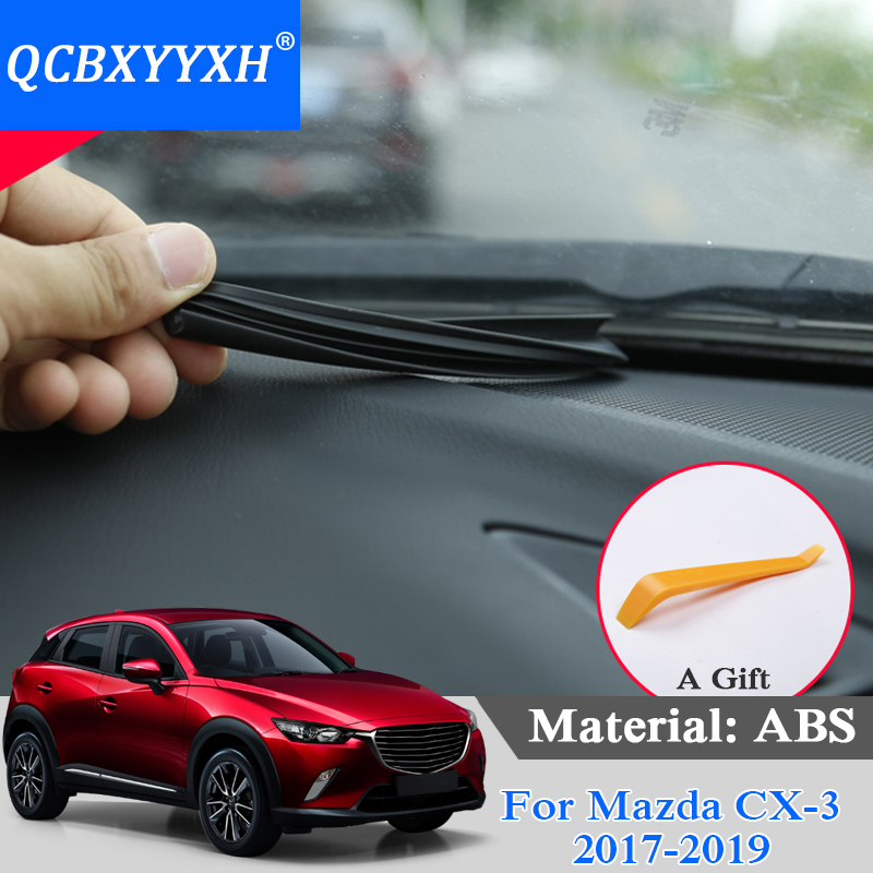 QCBXYYXH Car Styling Instrument Panel Seal Trim Sound Soundproof Weatherstrip Auto Rubber Dashboard Seal Strips For Mazda CX-3