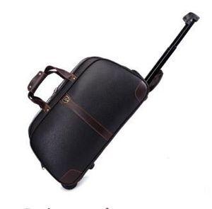 Дорожная сумка на колесиках, дорожная сумка из искусственной кожи, деловые сумки для багажа для мужчин и женщин, сумки на колесиках, дорожна...