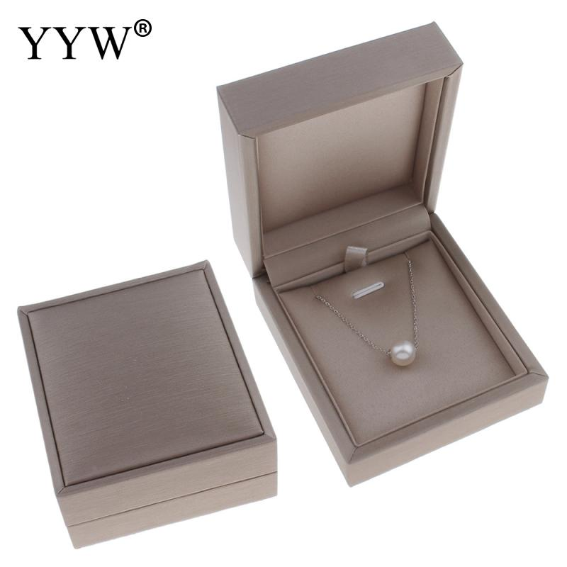 2017 Solid Color Elegant Jewelry Gift Box Earring Necklace Boxes Display Packaging Women Grey Cardboard Jewelry Box
