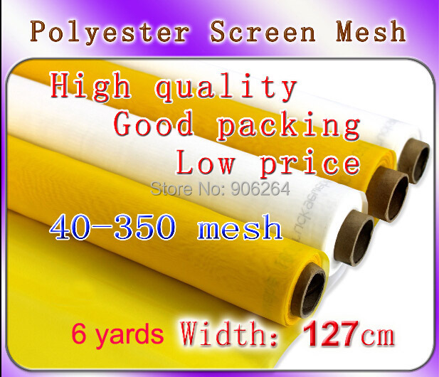 Free Shipping 6 meters (6 yards) Cheap and Discount 100T 250M Polyester Silk Screen Printing mesh 127cm width fast free shipping discount 16x20 inches silk screen printing stretcher self tensioning self stretching frame t shirt printer