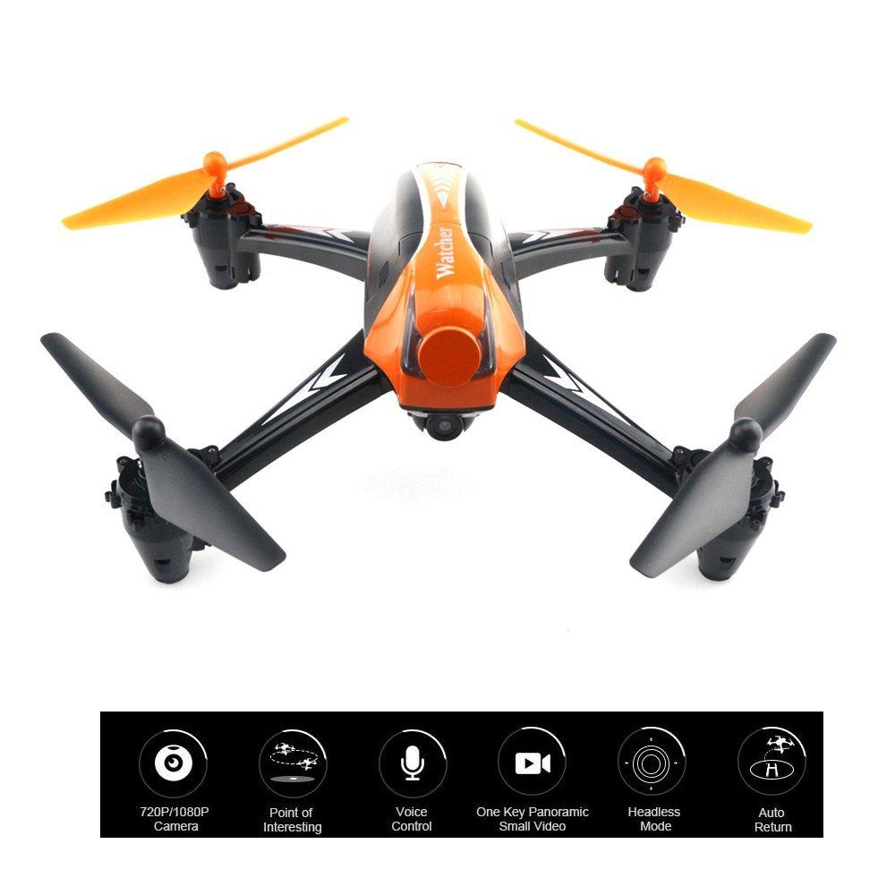 KidoMe Rc Drones Voice Camera Remote Control Helicopter Headless Mode One Key Panoramic Video Auto Return FPV RC Quadcopter Toys jjrc h8d fpv quadcopter racing racer rc drones with 2mp hd camera headless mode one key return helicopter toys gift rtf