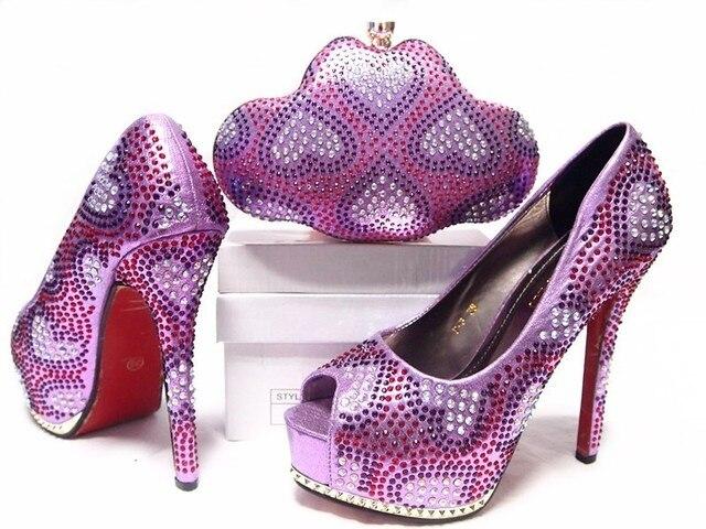 2017 Новая Мода Итальянская Обувь С Соответствующими Сумка Для Партии Африканский женщина Тонкие Высокие Каблуки Обуви И Сумка Набор Для Свадьбы JA10-4