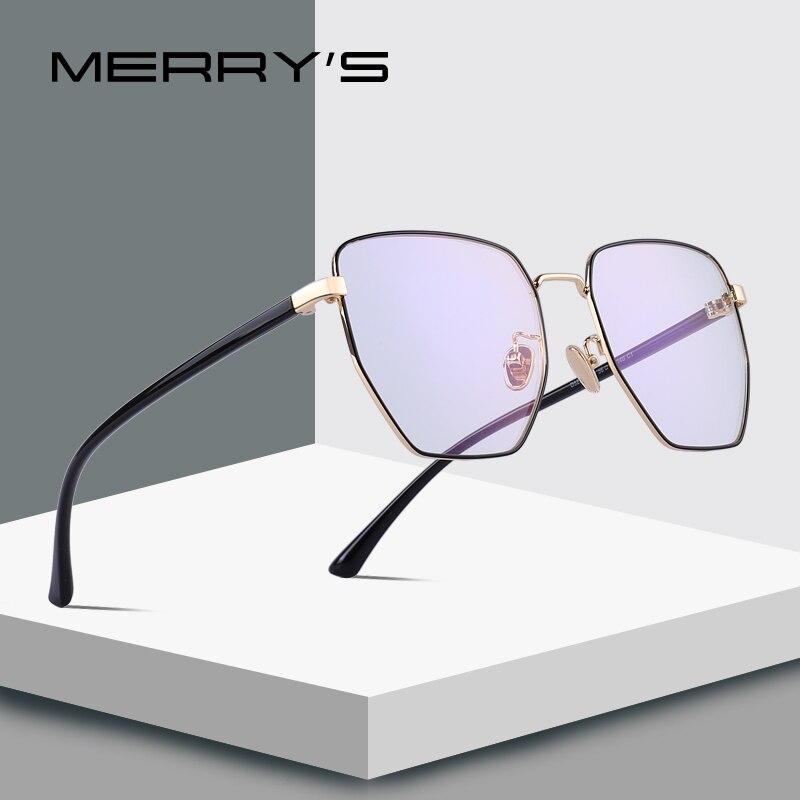 MERRYS DESIGN Men/Women Fashion Rectangle Glasses Retro Blue Light Blocking Optical Frames Eyeglasses S2095