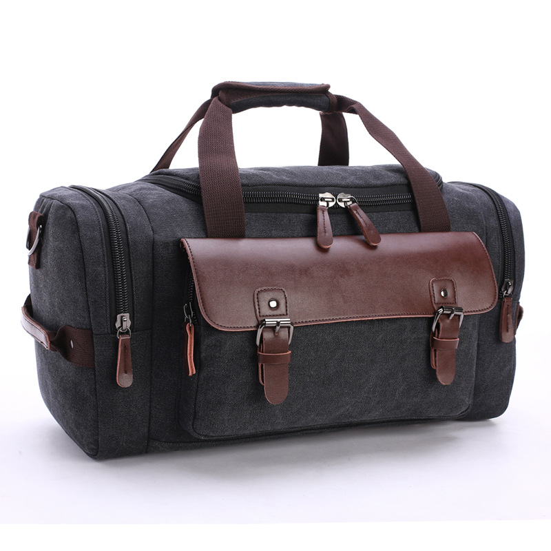 High Quality Men Travel Bags Hand Luggage Bags Canvas Leather Travel Duffel Bags Shoulder Bags Large Capacity Weekend OvernightHigh Quality Men Travel Bags Hand Luggage Bags Canvas Leather Travel Duffel Bags Shoulder Bags Large Capacity Weekend Overnight