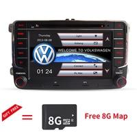 Дешевый dvd плеер GPS навигации два DIN 7 дюймов для Volkswagen VW Skoda поло Passat B6 CC Tiguan Гольф 5 Fabia поддержка 1080 P