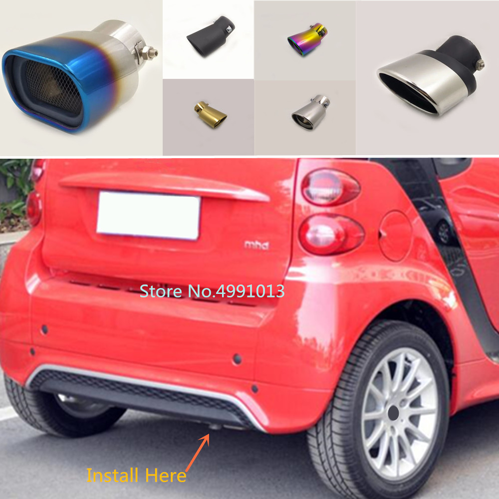For Benz Smart Fortwo 2012 2013 2014 Car Rear Cover Muffler Exterior Back End Pipe Dedicate Exhaust Tip Tail Outlet Ornament