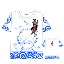 Anime  Gintama T-shirt Men Women Short Sleeve Summer dress Cartoon t shirt