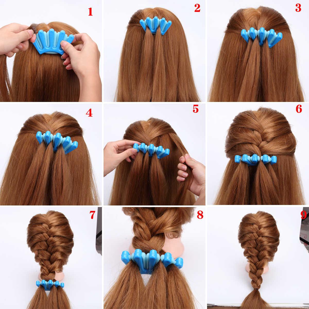 9 типов дамские модные французские волосы плетение рыба Бонд плетение валик для Плетения КОС с для волос, фигурная булочка производитель DIY волос ленточные инструменты