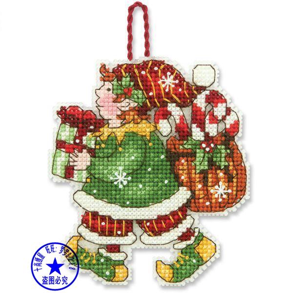 cs-2010 Cross Stitch Kit Santa Ornament Christmas Tree Ornaments Gift Dim 70-08913