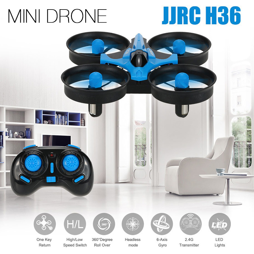 Newest Mini Drone JJRC H36 RC Micro Quadcopters 2.4G 6 Axis With Headless Mode One Key Return Helicopter Vs H8 Dron Best Toys 5