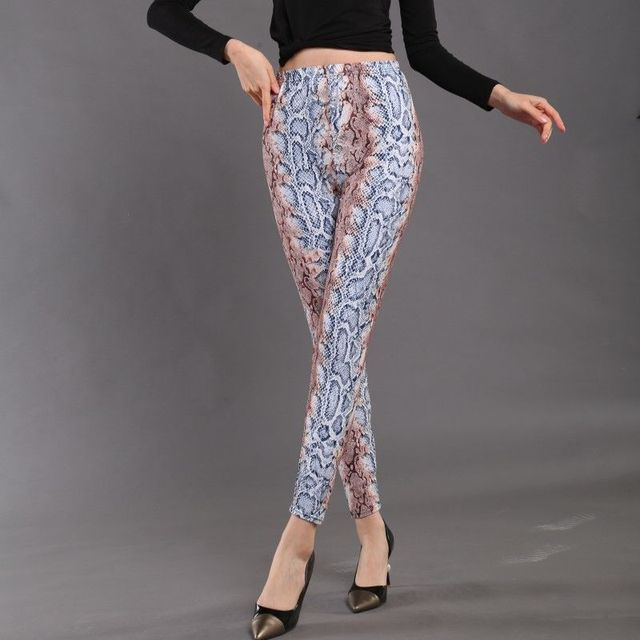 High Waist Legging Breathable Slim Snake Printing Leggings Push Up Elastic Leggin Slim Ladies Trousers Stretch Legging