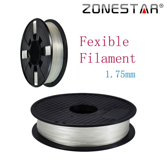 High quality Fexible PLA 3D Printer Filament 1.75MM plastic Rubber Consumables Material Zonestar  1KG/Roll