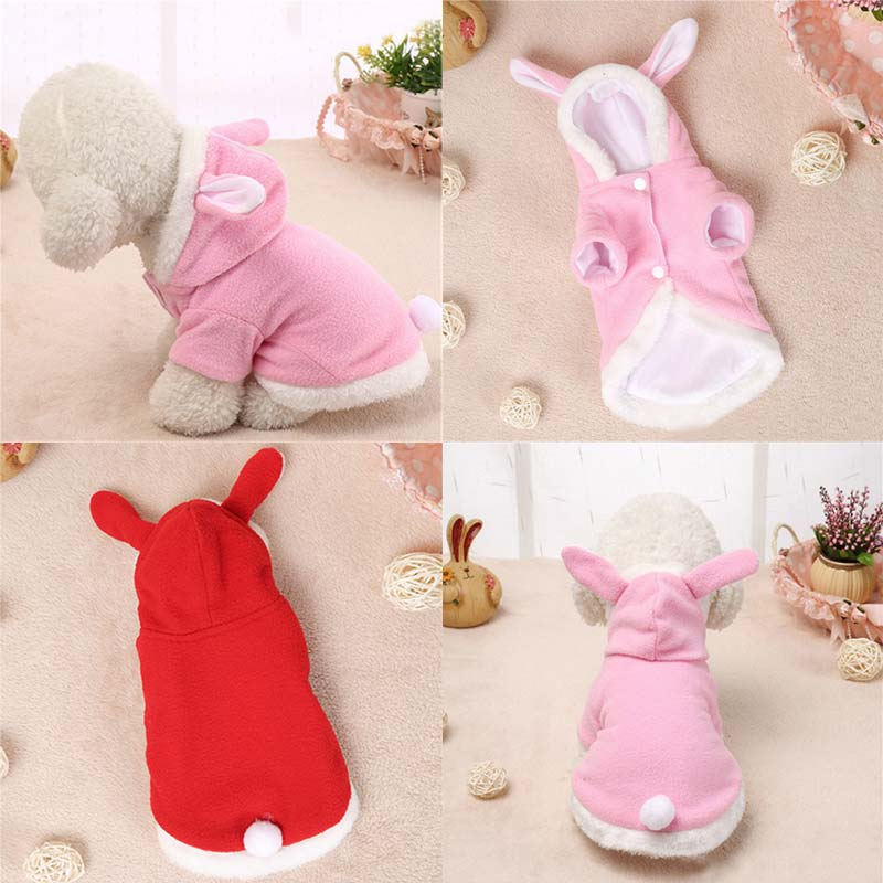 Pet Clothes Dog Cat Costume Fleece Warm Dogs Coat Puppy Rabbit Animals Suit Clothing Pet Supplies HG99