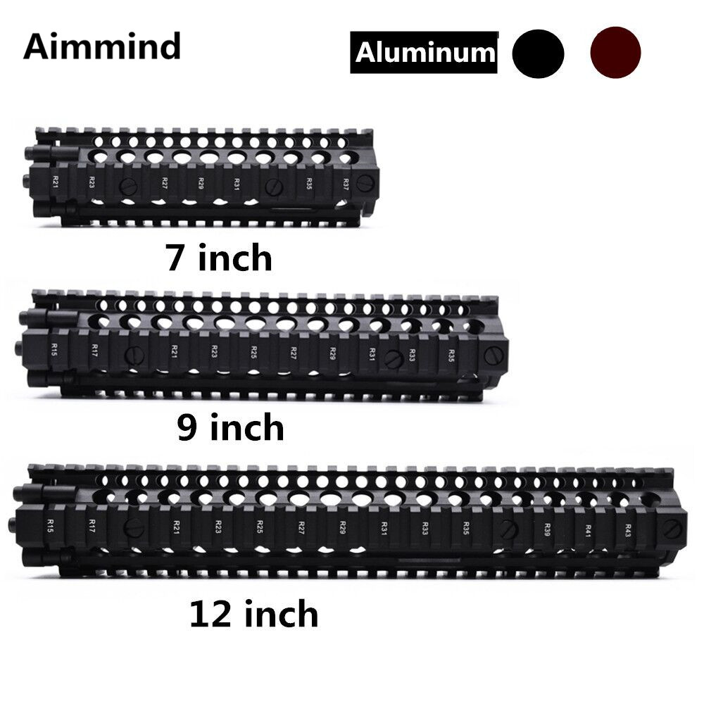 "Aluminum Hard Coat Anodized MK18 RISII 7""9""12"" Airsoft handguard Black CB Tactical Rail Fit for GBB(China)"