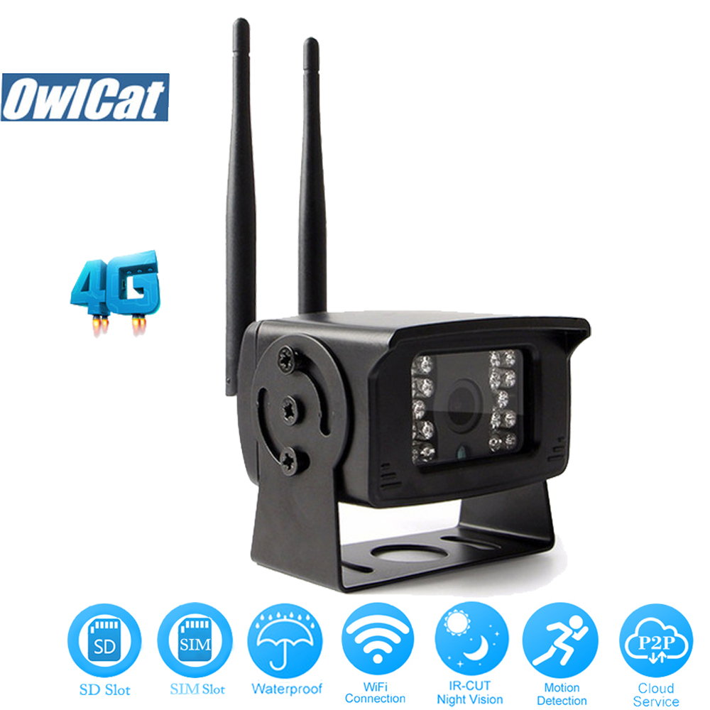 OwlCat HD 1080P Waterproof 3G 4G Phone SIM Card WIFI IP Camera Outdoor Mini Network CCTV