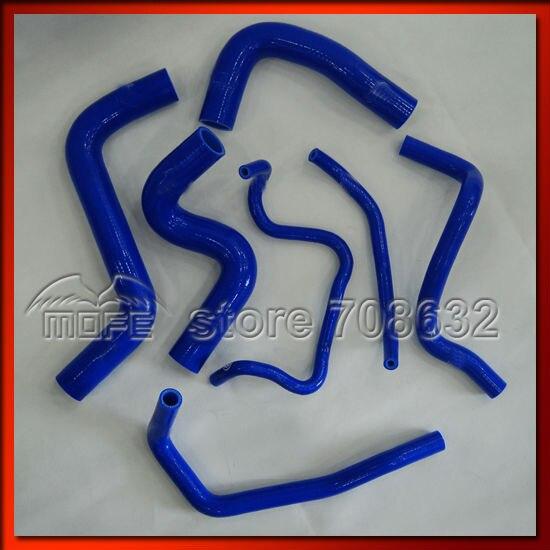 7PCS Original Logo Silicone Hose For Toyota Yaris 1NZFE1.5 2006~ Blue