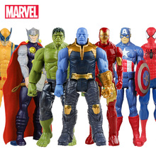 30cm Hasbro Marvel Avengers Infinity War Thanos Spiderman Hulk Iron Man Kapitan Ameryka Thor Wolverine działania rysunek zabawki lalki tanie tanio Modelu Brak Finished Goods Second Edition Soldier Finished Product Unisex 3 lat 1 60 Western Animiation Movie TV In-Stock Items