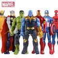 30cm Marvel Avengers Infinity War Thanos Spiderman Hulk Iron Man Captain America Thor Wolverine Action Figure Toys Dolls for Kid