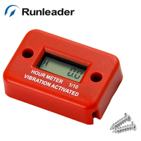 (5pcs/lot) Runleader Vibration Activated waterproof digital hour meter Hour counter for engine Free Shipping
