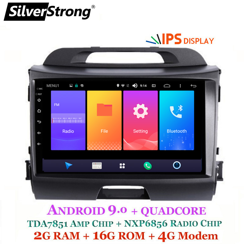 SilverStrong Android9 0 IPS 4G 9inch Car GPS For KIA Sportage3 2009 15 android9 0 IPS
