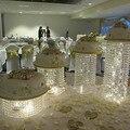 4 unids/lote Cristal de soporte de Visualización de la Torta de Cumpleaños decoración de la Boda pieza central
