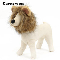 Carrywon Funny Pet Accessories Cat Dog Emulation Lion Hair Muffler Costume Scarf Head Cap Dress Up