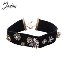 Joolim Black Velvet Choker Necklace With Bee Vintage Chocker