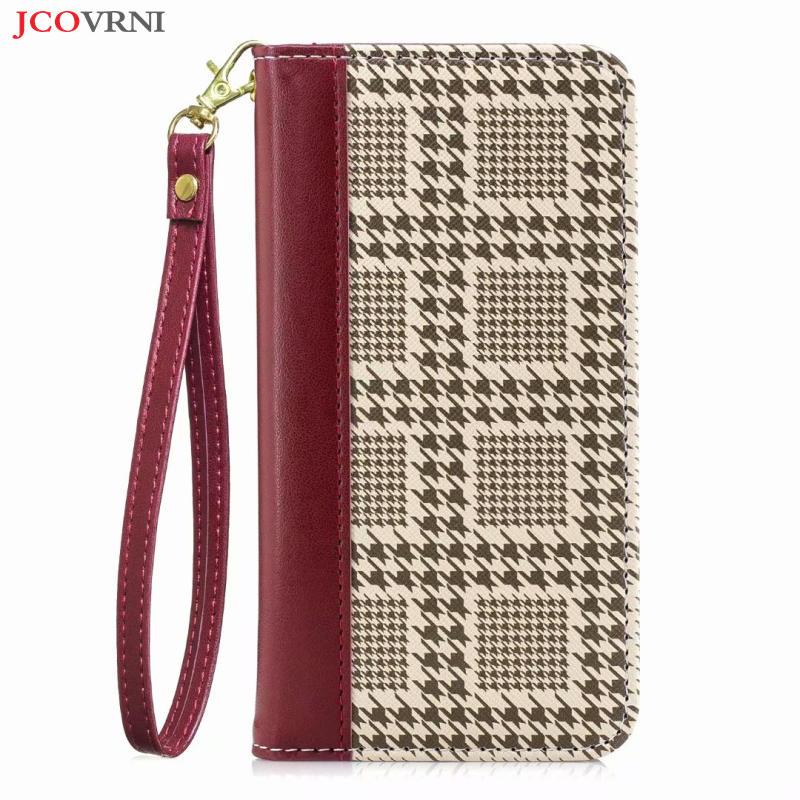 JCOVRNI Clássico costura cor mil pássaro padrão capa de couro para iphone XR XS XSMAX 7 7 plus 8 8 plus tampa do cartão cartão do quadro
