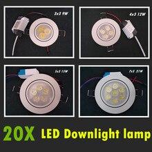 hot deal buy dimmable led downlight light  ceiling spot light 9w 12w 15w 21w 85-265v ceiling recessed lights indoor lighting